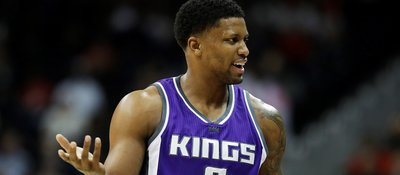 Rudy Gay Snipes An Unsuspecting Fan With A Shoe